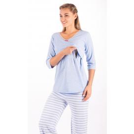 Dámské pyžamo dlouhé mateřské Lenka