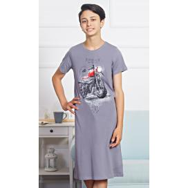 Dětská noční košile s krátkým rukávem Motorka