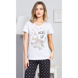Dámské pyžamo s krátkým rukávem Jednorožec