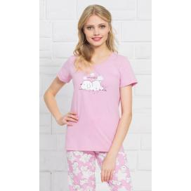 Dámské pyžamo kapri Štěně a hvězdy