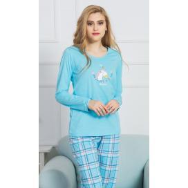 Dámské pyžamo dlouhé Jednorožec
