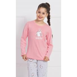 Dětské pyžamo dlouhé Jednorožci