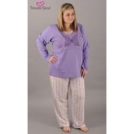 Dámské pyžamo dlouhé Motýl