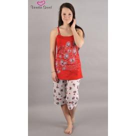 Dámské pyžamo kapri na ramínka Motýli