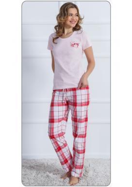 Dámské pyžamo s krátkým rukávem Kočky Ospalky