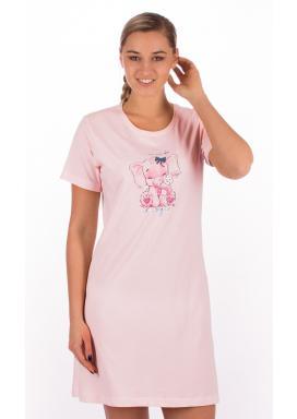 Dámská noční košile s krátkým rukávem Slon s mašlí