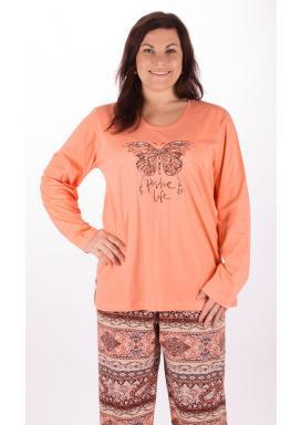 Dámské pyžamo dlouhé Velký motýl 2c9db42386