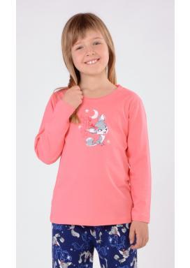 Dětské pyžamo dlouhé Liška a měsíc
