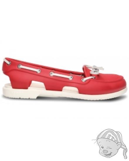 Beach Line Boat Shoe Women Red/White