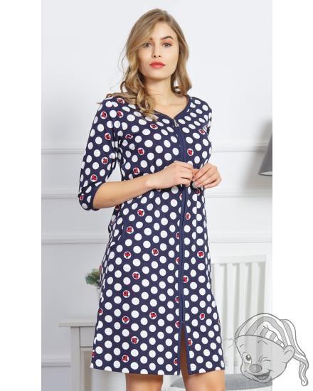 Dámské domácí šaty s tříčtvrtečním rukávem Berušky
