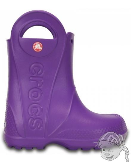 CROCS Handle It Rain Boot Kids - barva Neon Purple