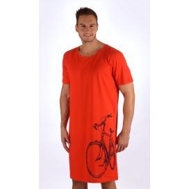 Pánská noční košile s krátkým rukávem Bicykl