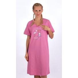 Dámská noční košile mateřská Čáp s houpačkou