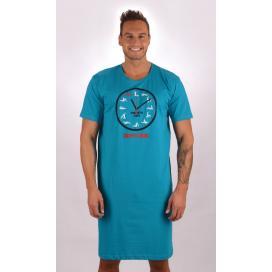 Pánská noční košile s krátkým rukávem Kamasutra clock