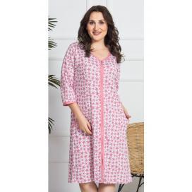 Dámské domácí šaty s tříčtvrtečním rukávem Malé hvězdy